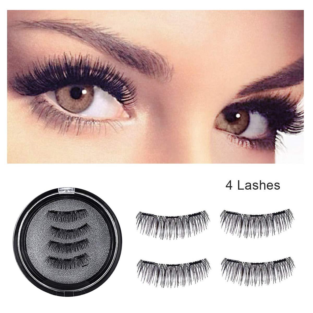 4fd6495bfa7 Magnetic False Eyelashes Three Magnets Reusable Fake Eye lashes Natural  Eyes Lash: Amazon.co.uk: Beauty