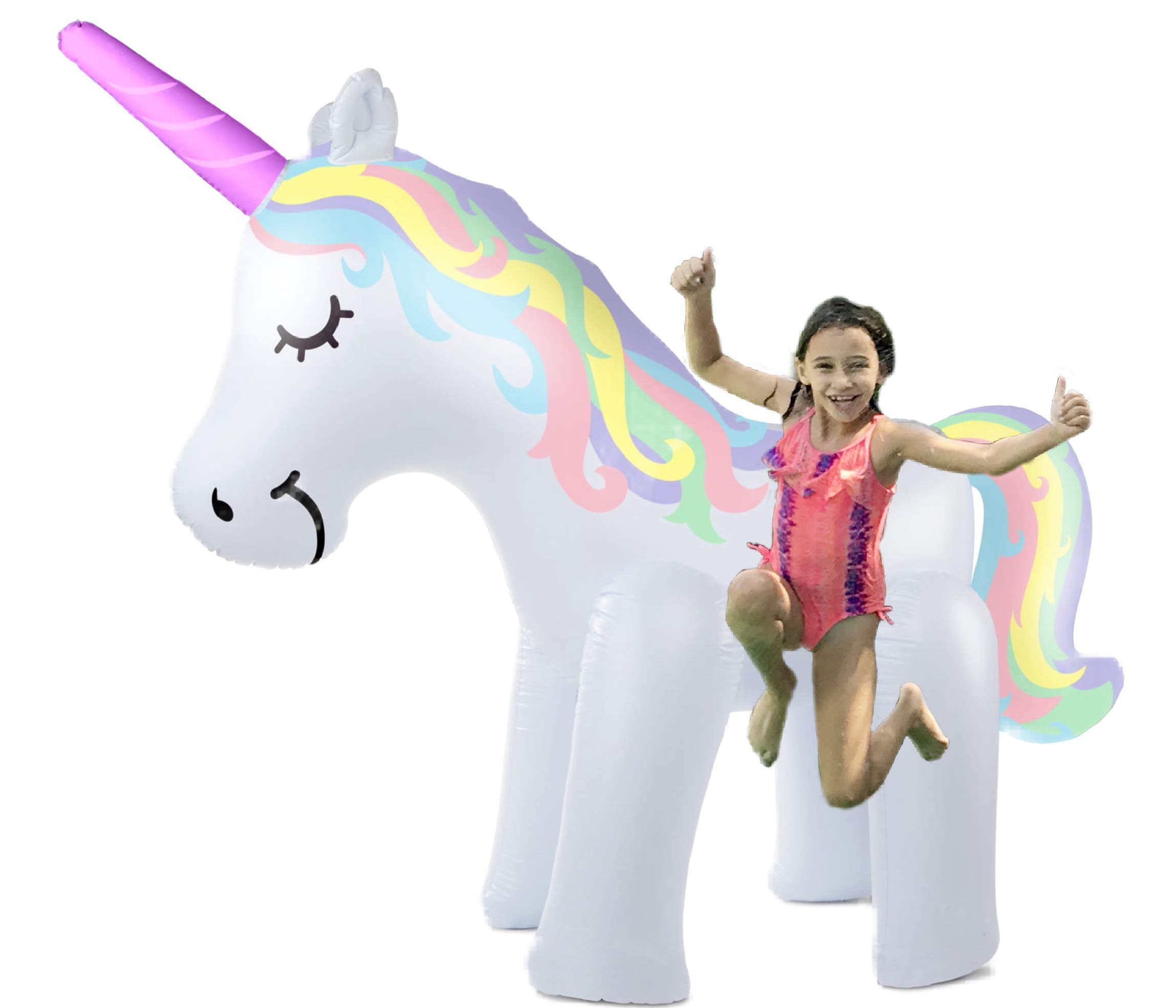 THE ORIGINAL UNICORN SPRINKLER Toy - Giant Inflatable Unicorn Sprinkler for Kids Adults - Great Outdoor Birthday Party… 2