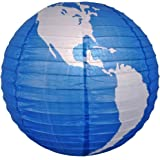 "WGI 16"" Blue World Paper Lantern"