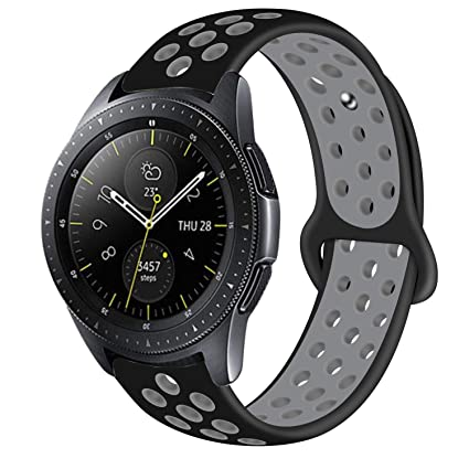 Band Compatible with Samsung Galaxy Watch Active/Galaxy Watch 42mm Band, 20mm Leather Replacement Strap for Galaxy Active 40mm/Galaxy Watch 42mm ...
