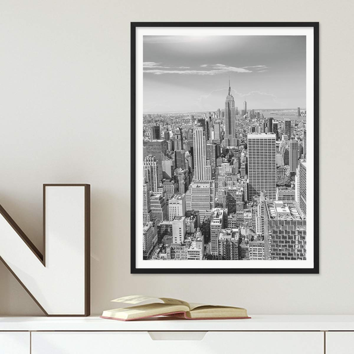 PHOTOLINI Poster mit Bilderrahmen Schwarz \'New York City\' 30x40 cm ...
