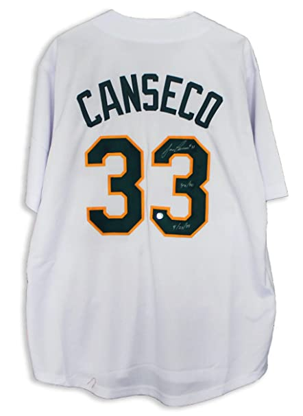 official photos 5344c 3a585 Jose Canseco Oakland Athletics Autographed White Jersey ...