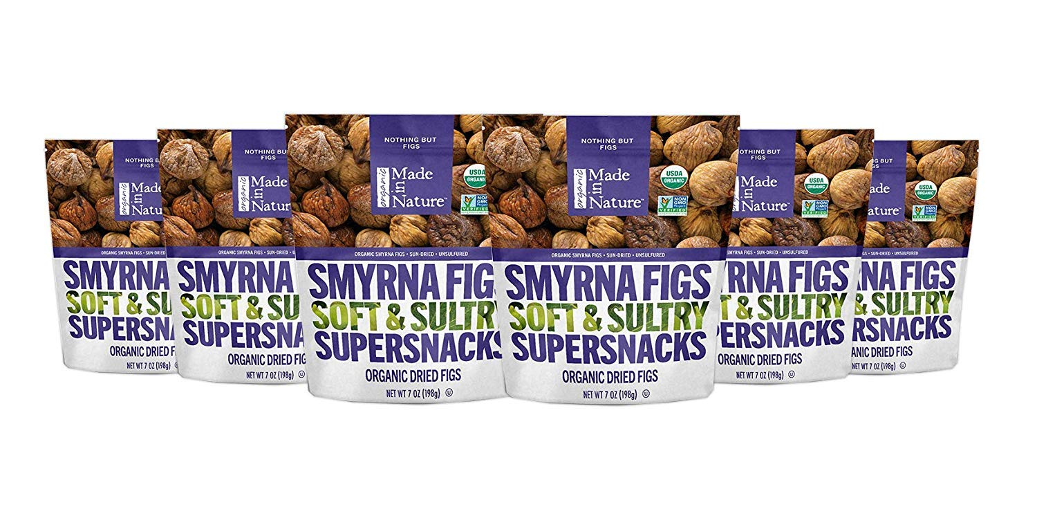 Made in Nature Organic Dried Fruit, Turkish Smyrna Figs, 7oz Bags (6 Count) – Non-GMO, Unsulfured Vegan Snack