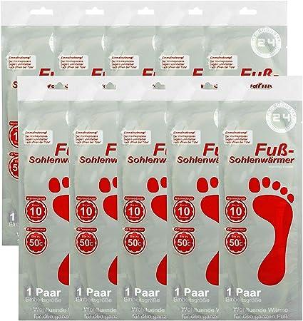 Fußwärmer Sohlenwärmer warme Füße wärmende Einlegesohlen 50°C in 3 Größen 36-45