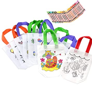 Lote 12 DIY Graffiti Bolsas para Colorear Ideal para +24 lápices de graffiti inofensivo de la salud de los de cumpleaños, comuniones, colegios, ...