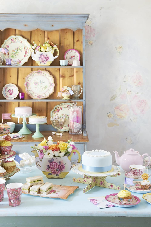 Amazon.com Talking Tables Truly Scrumptious Floral Vintager Teapot Vase Decoration for a Tea Party Multicolor Floral Centerpieces For Tables Kitchen u0026 ... & Amazon.com: Talking Tables Truly Scrumptious Floral Vintager Teapot ...