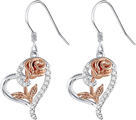Leaf Charms Antique Silver Plated earrings Birthday anniversary gift for her Mothers day