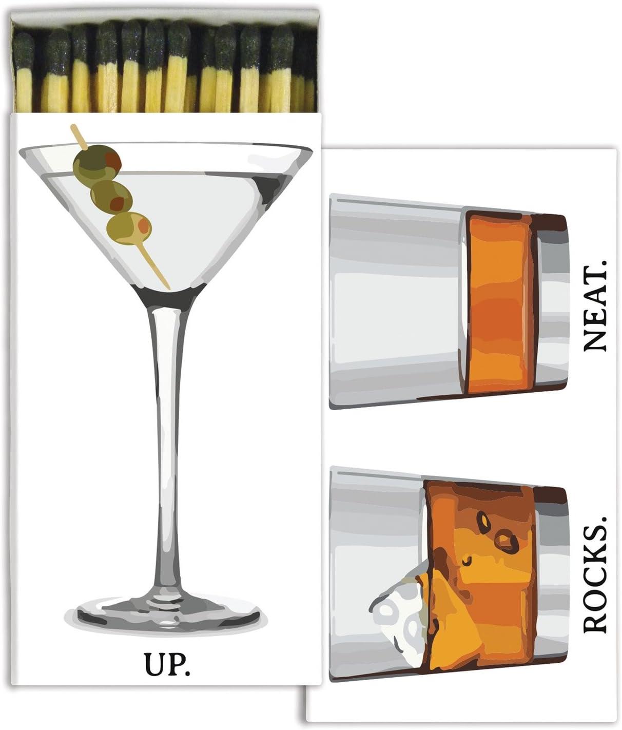 Set of 6 Cocktail HomArt Matches