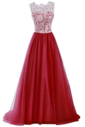 Suzhou Laidisi Womens Short Shoulder Chiffon Bridesmaid Long Prom Dresses (2, Burgundy)