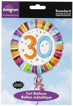 Globo Foil Feliz 30 Cumpleaños Radiante (Empaquetado ...
