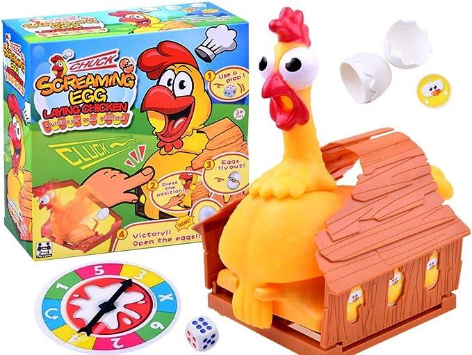 BSD Juego de Acción y Reflejos - Juego Familiar - Screaming Egg Laying Chicken - Huevo Ponedor de Pollo: Amazon.es: Juguetes y juegos