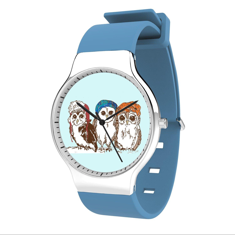 FELOOWSE Owl Watch Men'S Quartz Watches, Minimalist Slim Japanese Quartz Youth Silicone Watches, Fashion PracticalWaterproof Boys Watch Customized Watches