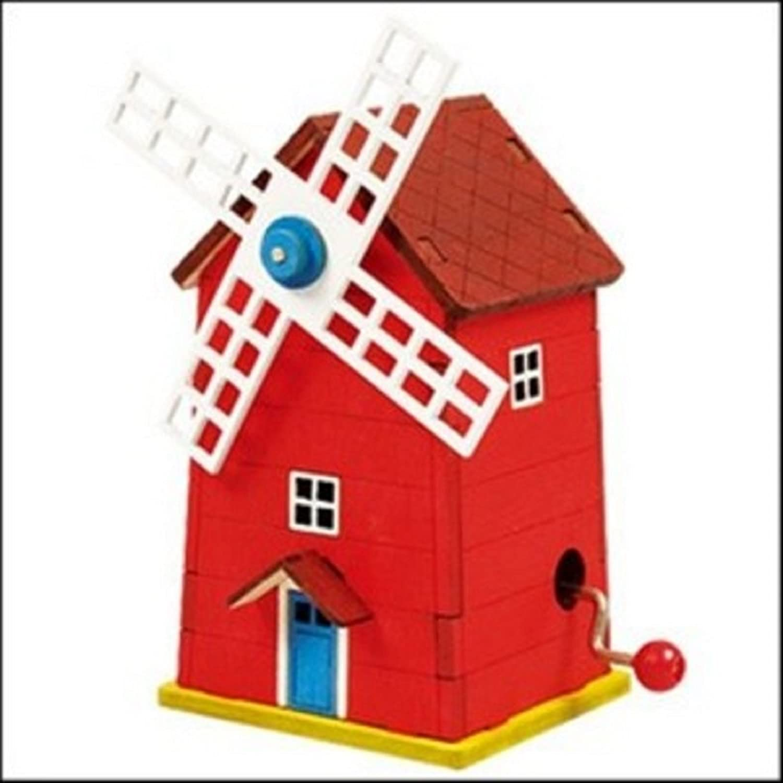Dollhouse Miniature 1:12 Scale DIY Windmill Music BOX KIT #G7152 AZTEC IMPORTS