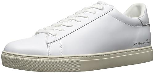 Armani Jeans Signature Low Top Uomo Sneaker Nero  Amazon.it  Scarpe e borse 4c070334d30