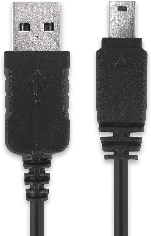 subtel® Cable USB dato 1m Compatible con Casio EX-F1 Exilim EX-ZR100 -ZR1000 -ZR200 -ZR300 EX-Z75 EX-H15 -H10 EX-FH20 -FH100 EX-S10 EX-G1 EX-Z90 EX-FC100, EMC-6 12 Pin a USB A, EMC6 Cable de