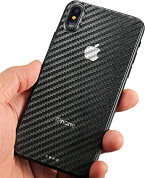 wortek iPhone X Skin de Carbono Style Pegatinas Branding – para ...