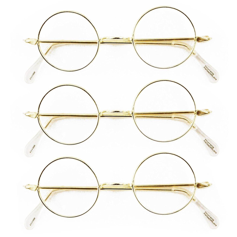 Round Wire Rim Glasses Costume Accessory (3 Pack)