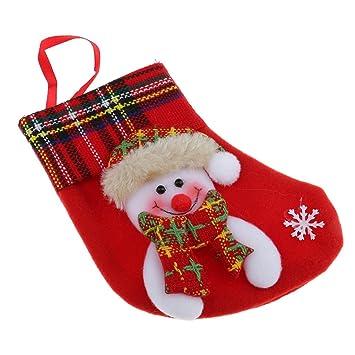 magideal nikolausstrumpf/calcetín de Navidad/Botas de Papá Noel/calcetines de Papá Noel