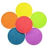 SunWen Silicone Drink Coaster,Full Rainbow with