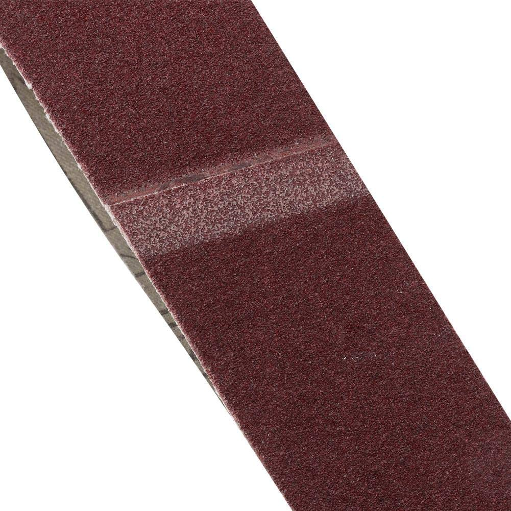 60# 10PCS GXK51-B Alumina Abrasive Belt 40-100 Grit Sanding Belt for Wood Furniture Grinding Polishing Sharpening