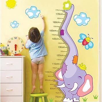 Amazon.com: Wall Decal Elephant Bee Sun Height Measurement Home ...
