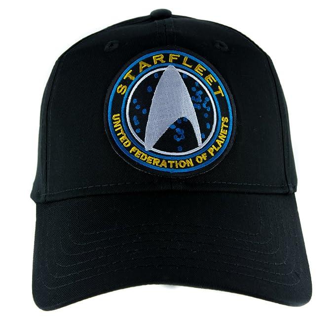 5cfa5138a58 Amazon.com  Starfleet Enterprise Star Trek Hat Baseball Cap Alternative  Clothing Cosplay  Clothing