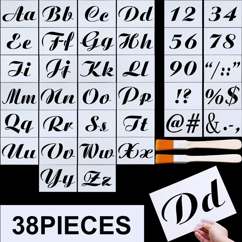 Pochoir Alphabet Lettre numéro Stencils Caractères Symboles choisir votre taille