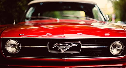 MUSTANG Ford I Love Classic Cars POSTER