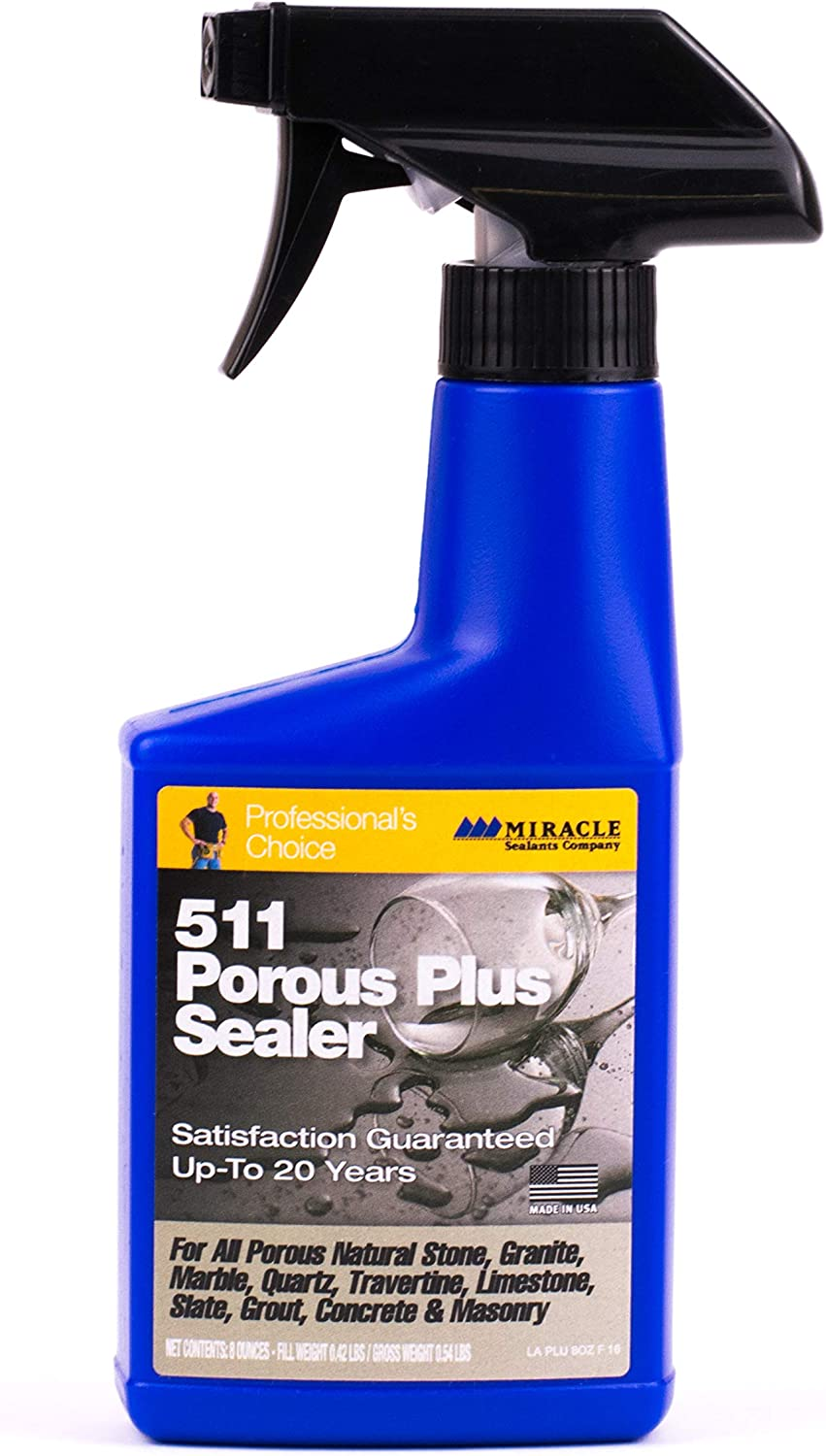 Miracle Sealants 511 Porous Plus 237ml spray (US 8oz) The Best Performing Penetrating Sealer on the Planet by Miracle Sealants