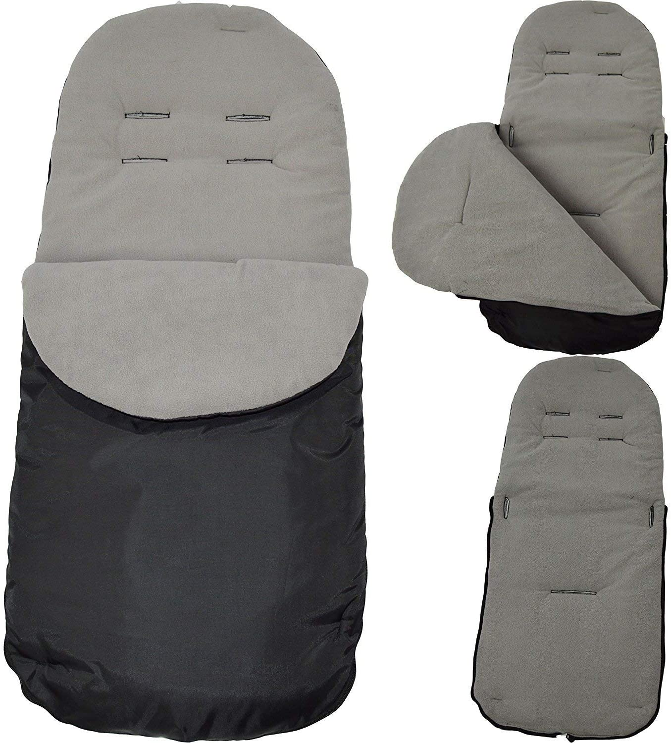 FYLO Universal Deluxe Pushchair Footmuff//Cosy Toes Fits All Pushchairs//Prams//Buggies Blue