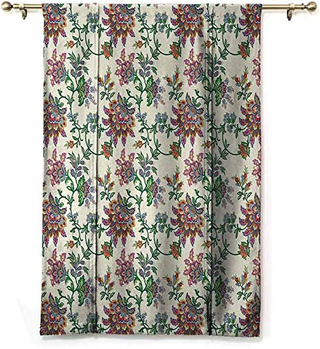 GugeABC Roman Window Shades Victorian Balloon Shades for Window Floral Composition with Vintage Inspirations Abstract Swirled Stalks 30 Wide by 64 Long Seafoam Brown White