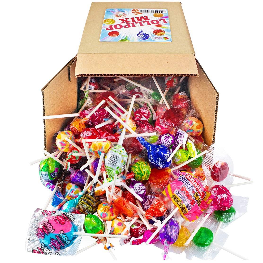 Lollipops - Lollipop Bulk – Lollipops for Kids – Lollipop Variety – Holiday Candy Bulk - Assorted Variety - Bulk Candy - 3.5 Pounds