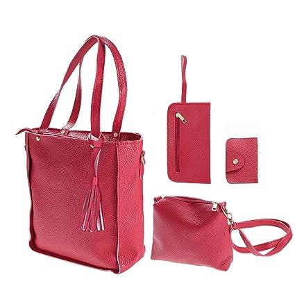 Image Unavailable. Image not available for. Color  4pcs Women Fashion PU  Leather Handbag Shoulder Bag Tote Purse Card Holder ... 901ba9c58ddf1