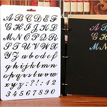 Gemini MallR Lettrage Pochoir Nombre Lettre De Lalphabet Pochoirs Peinture Scrapbooking Cartes