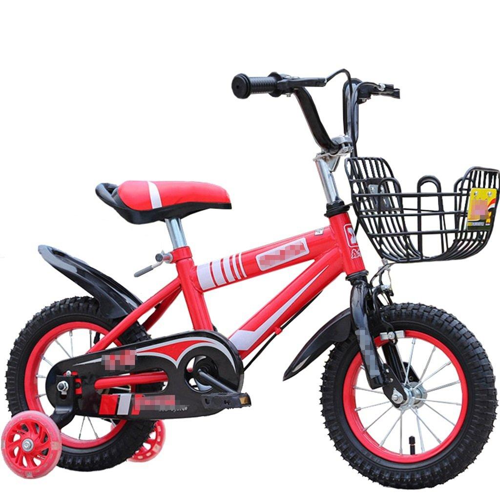 KANGR-子ども用自転車 子供の自転車マウンテンバイクに適した2-3-6-8ボーイズとガールズ子供用おもちゃのハンドルバー/サドルの高さはフラッシュトレーニングホイールで調節可能-12 / 14/16/18インチ ( 色 : 赤 , サイズ さいず : 14 inches ) B07BTWWR42 14 inches|赤 赤 14 inches