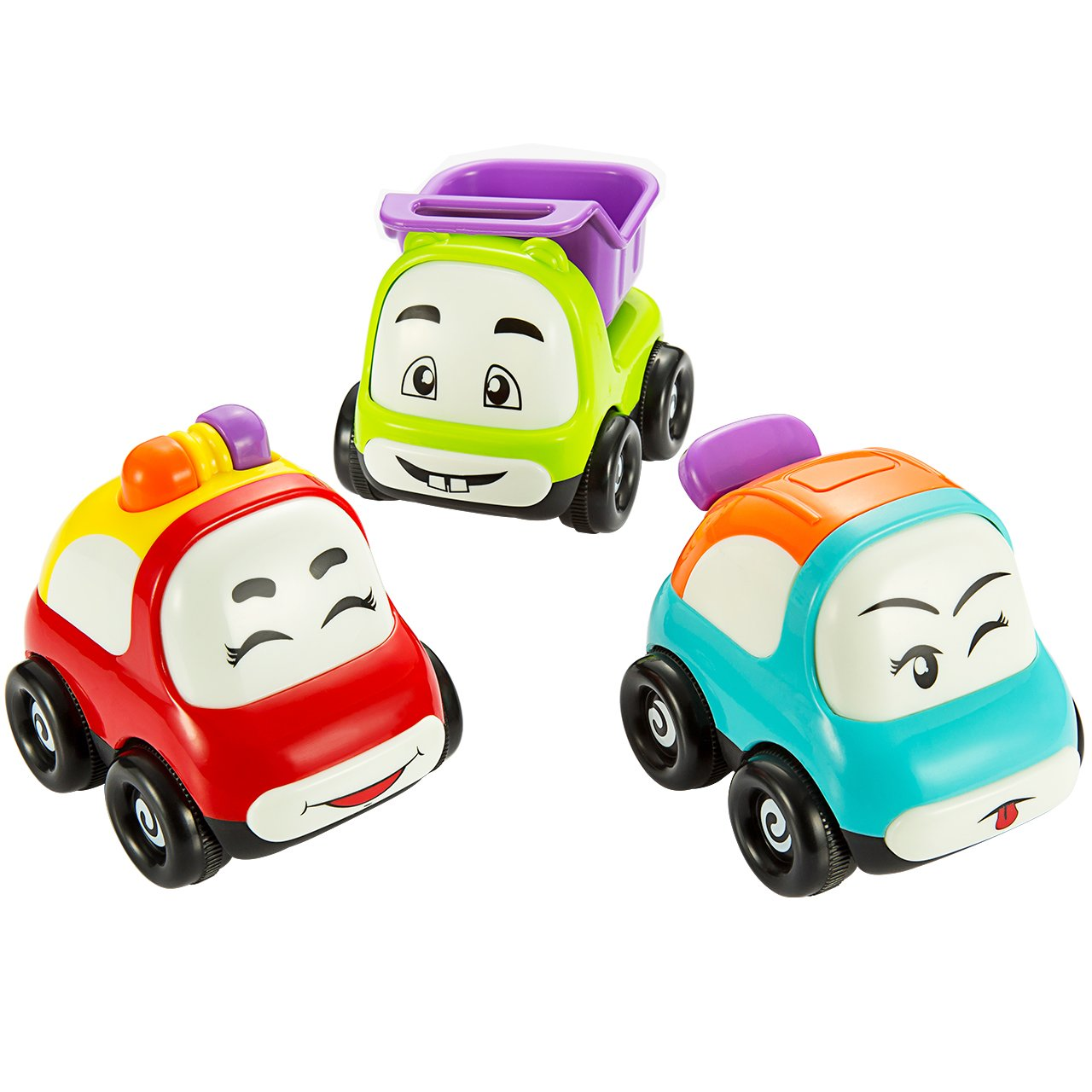 amazon com pictek cars toy set of 3 play vehicles push and go