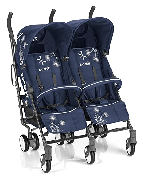 Brevi 764239 silla de paseo Carrito gemelar 2 Asiento(s) Azul - Cochecito (