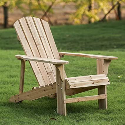 Fabal Adirondack Chairs Home Outdoor Life Leisure Fir Wooden Lounge Chair  37.8 X 22 X 5.5