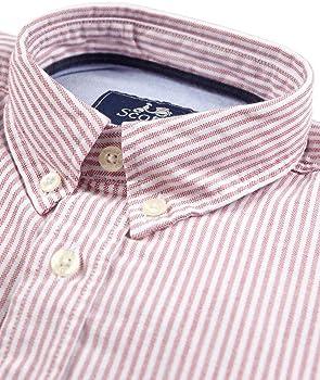 Estilo Elegante y Juvenil Scotta 1985 Camisa/Oxford para Hombre Algod/ón