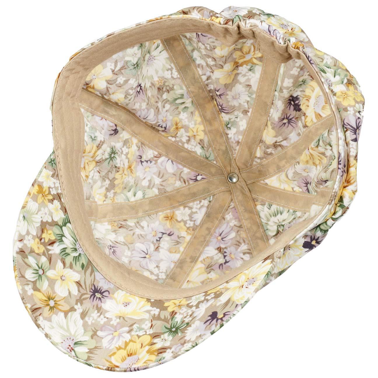 mit Schirm Fr/ühling-Sommer Lipodo Limasetta Flowers Ballonm/ütze Damencap Baumwollcap Schildm/ütze Baker-Boy-M/ütze Damen