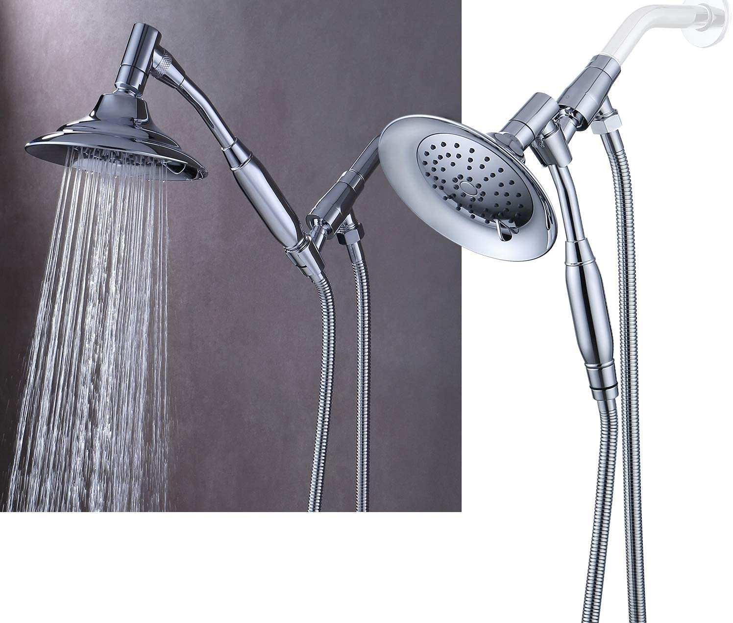 4 rooms Shower head Kit shower COMPLETE Stainless Steel Flexible // NEW