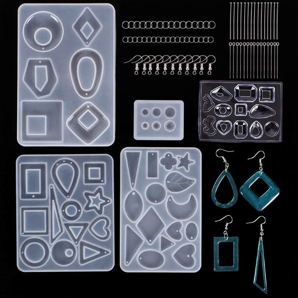 Silikon Ohrring Anhänger Schmuck Form Harz Gussform Werkzeug DIY Epoxy MakingW2I