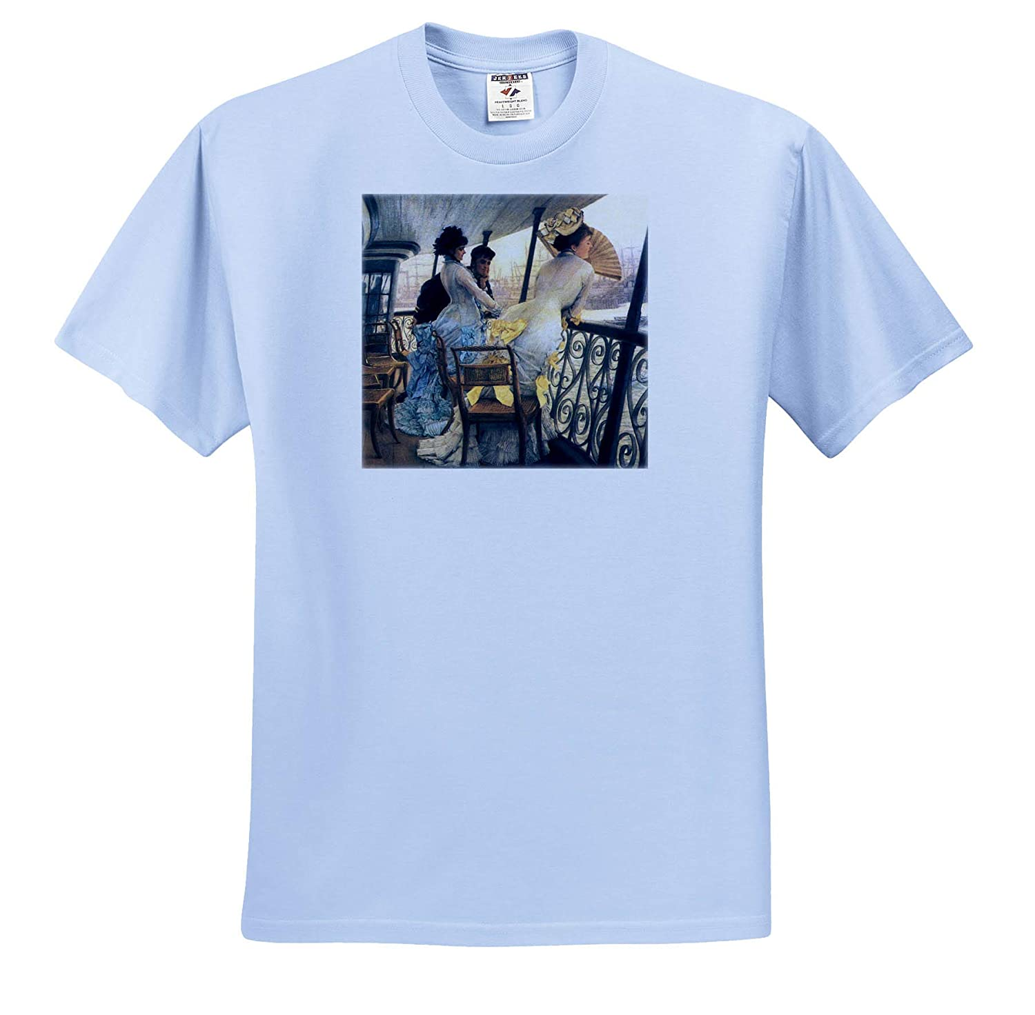 3dRose VintageChest Tissot T-Shirts Masterpieces The Gallery of The HMS Calcutta