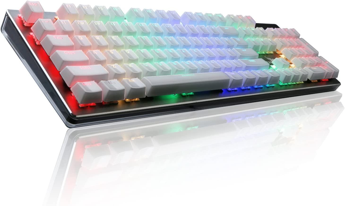 RGB Mechanical Keyboard, Rottay 16.8 Million RGB Backlit Wired Mechanical Gaming Keyboard with Brown Switches 104-Key Anti-ghosting and Fully Programmable for PC&Mac Gamers and Typist