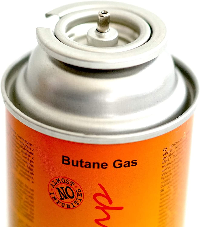 Camping Gaskocher Gasheizung Gasbrenner Butan Gas EN521 MSF1a mit Sicherheitsventil 1x 220g ELICO Gaskartusche f