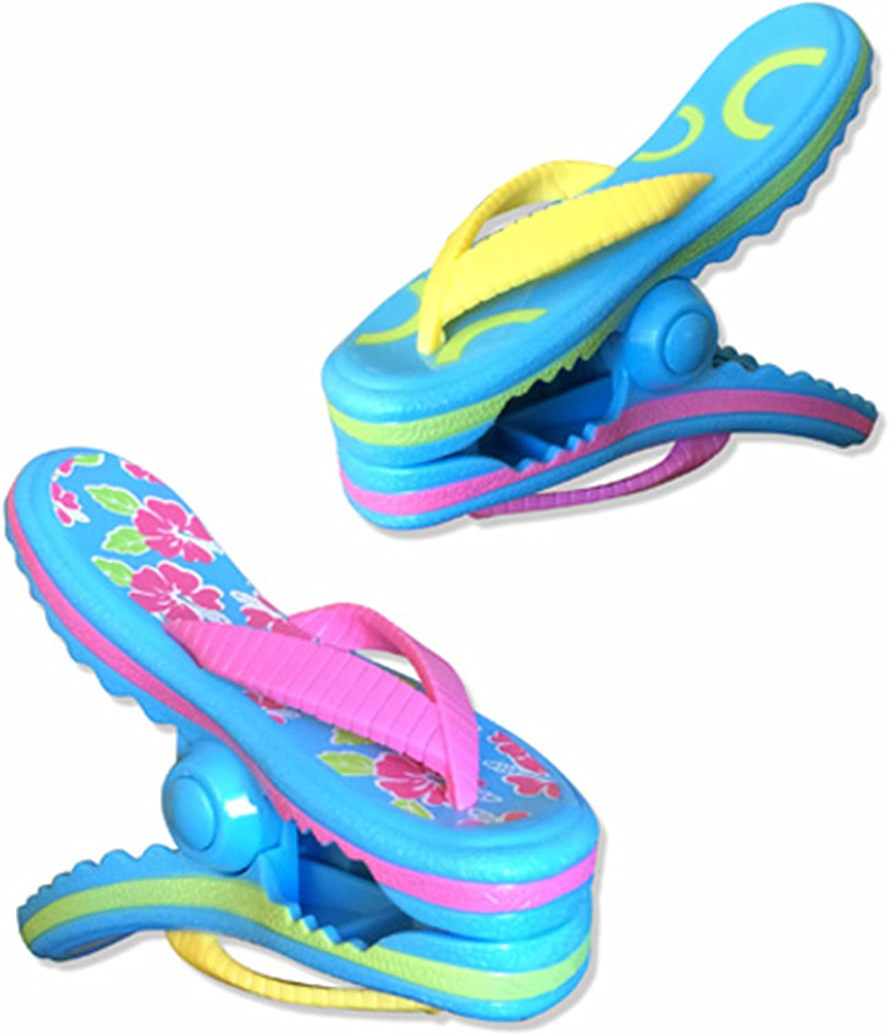 O2COOL Flip Flop BocaClips, Beach Towel Holders, Clips, Set of Two, Beach, Patio or Pool Accessories
