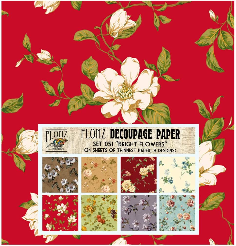 Decorative Printed Decoupage Paper Set A4 8pcs CrafTreat French Background /& Floral Fantasy Decoupage paper pack for DIY Home D/écor Mixed Media Crafts Arts and Crafts Supplies