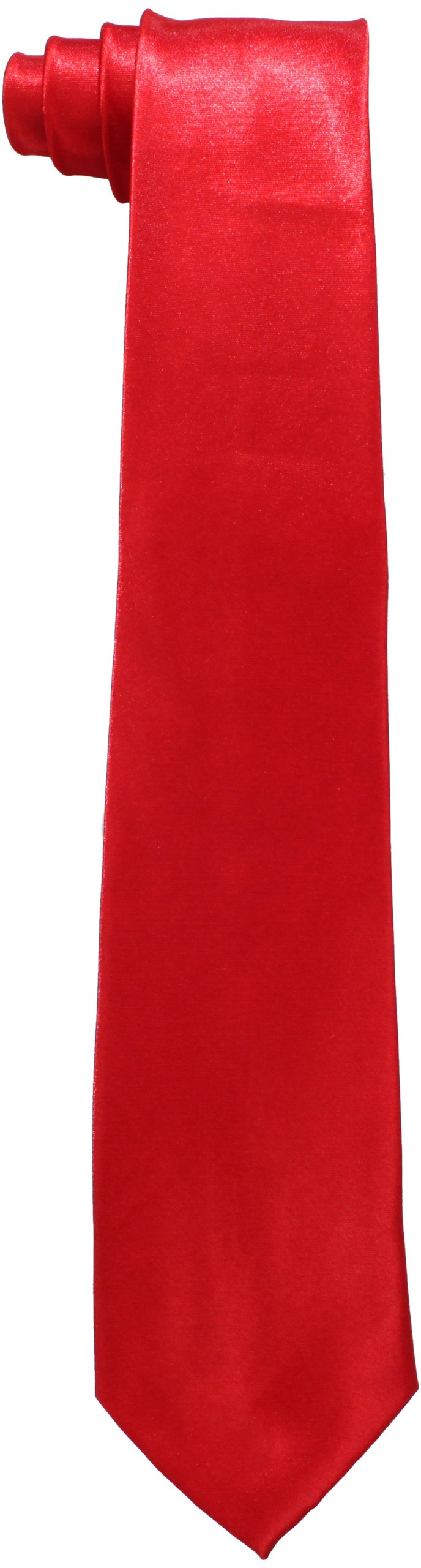 American Exchange Big Boys' Solid Tie, Red, 50 Inch