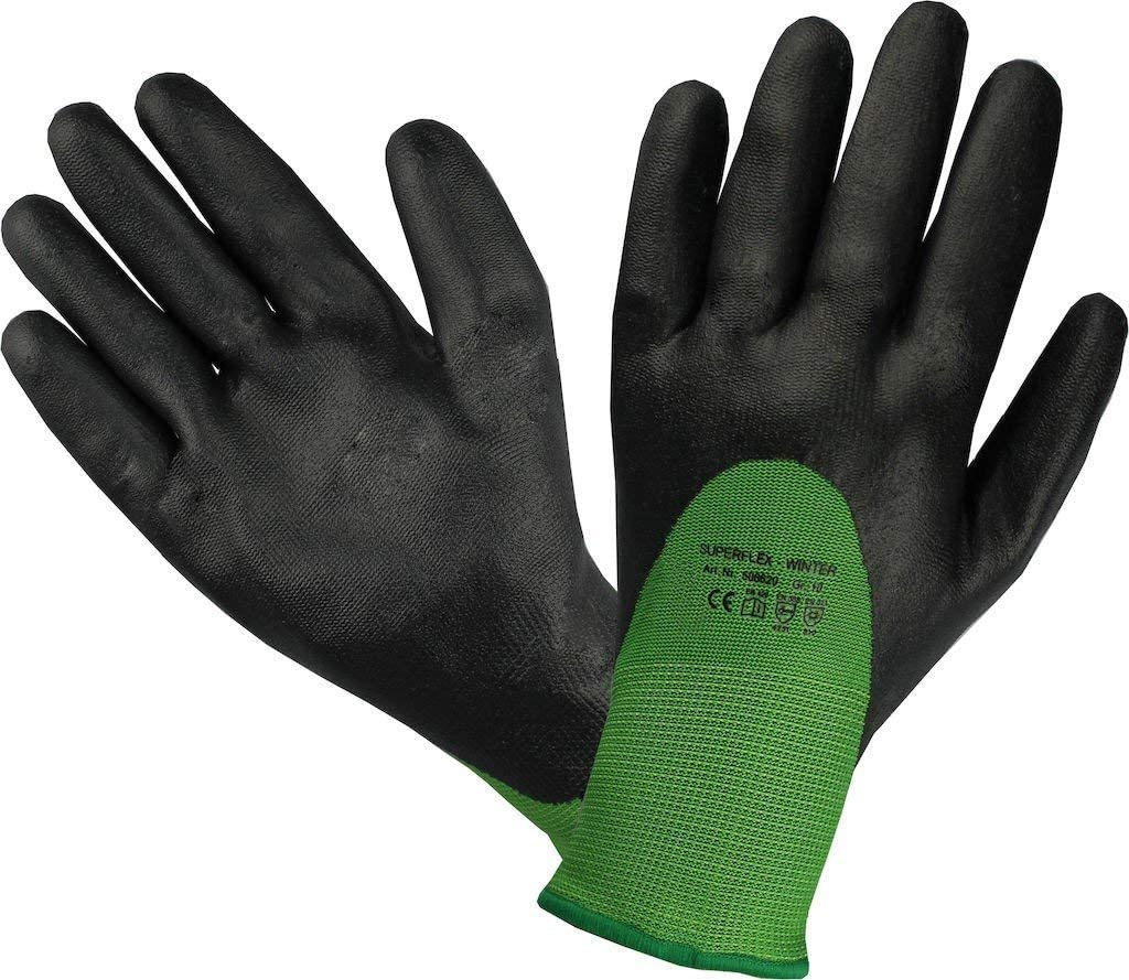 Safety Gloves Assembling Gloves Superflex Winter Cold Protection Gloves with Nitrile Coating Size: 9 Water Repellent Material strongAnt/® Nitrilу