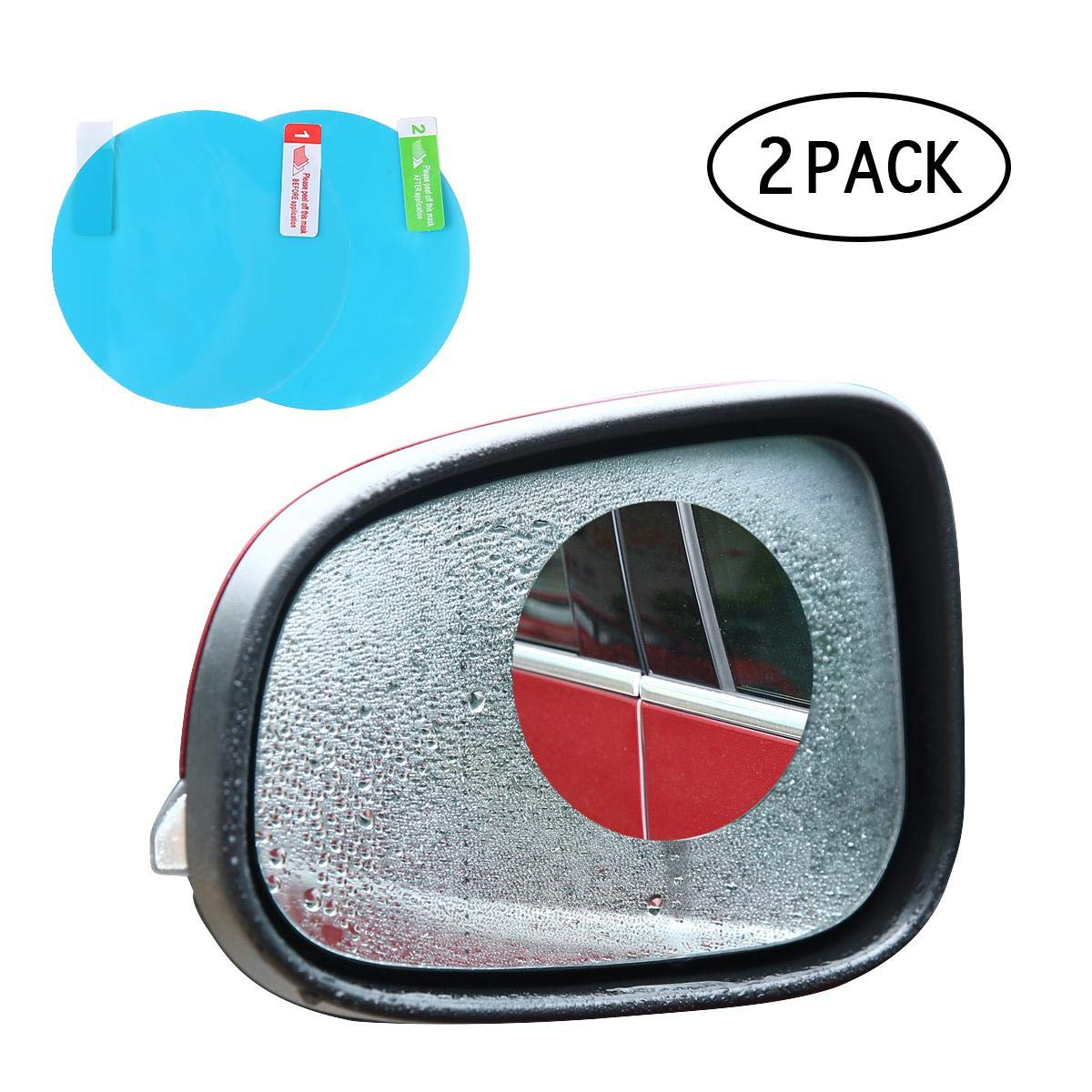 Car Rearview Mirror Protective Film (2 Pack) KOBWA Blind Spot Mirrors SUV & Blind Spot Mirrors Cars - Great Motorcycles, Trucks, Snowmobiles As Well
